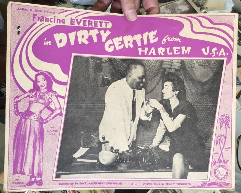 1946 DIRTY GERTIE from HARLEM, USA Francine Everett Black Cast Movie LOBBY CARD