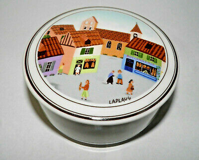 Villeroy & Boch Design Naif Trinket Box French Town City Laplau 4 Porcelain