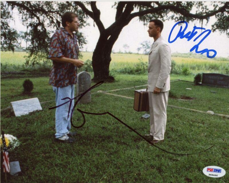 "Tom Hanks & Robert Zemeckis ""Forrest Gump"" AUTOGRAPHS Signed 8x10 Photo PSA"