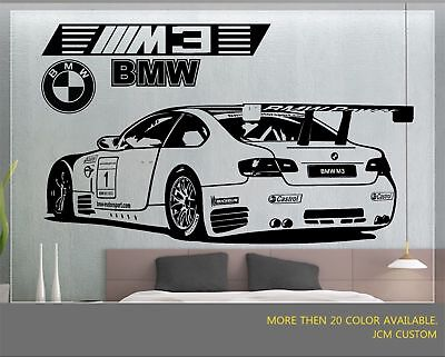 Home Decor Liquidators Coupons BMW M3 GT2 M-Power Racing Sports Car Removable Wall Vinyl Decal Sticker