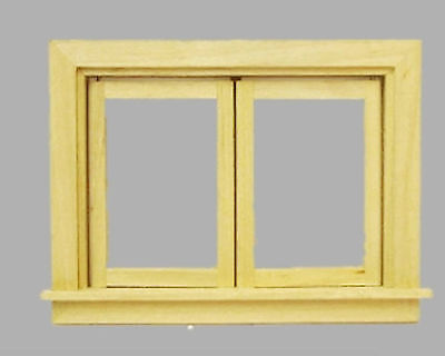Fenster Doppelfenster Plexiglas aus Naturholz  Puppenstube 1:12