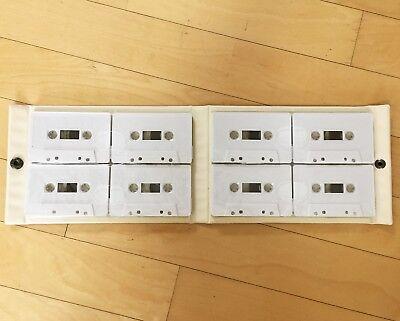 120min. x 8ea blank tape + One Case, Holder for audio cassette tape Storage