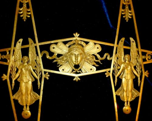 SET OF THREE FRENCH GILDED BRONZE/ BRASS DECORS  MOUNTS PEDIMENTS