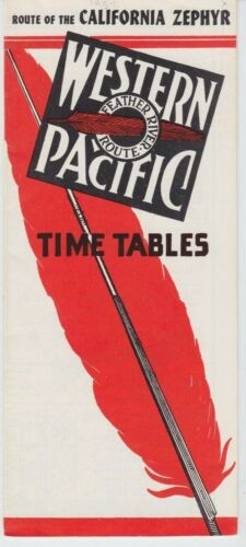 Western Pacific Route of the California Zephyr  PTT September 26, 1954