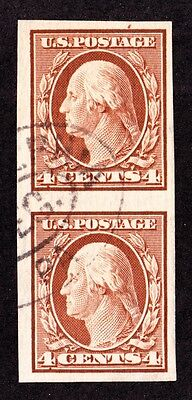 US 346 4c Washington Used Pair SCV $62.50