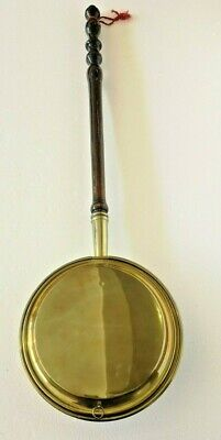 Vintage or Antique Large Copper Long Handled Bed Warmer Warming Pan - VGC