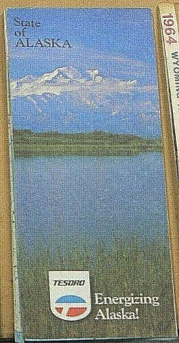 1986 Tesoro Road Map of Alaska