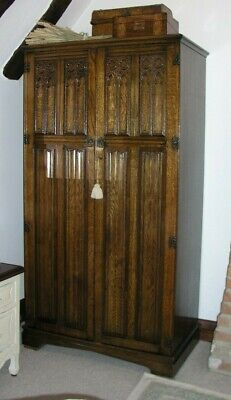 Antique Wardrobe / Oak Wardrobe / Gothic Wardrobe / Armoire