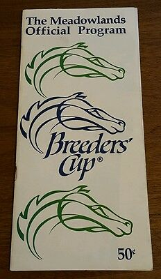 Meadowlands Breeders Cup prog 1988 Easy Goer * Alysheba  Forty Miner * Bet Twice