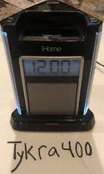 iHome iH4B Alarm Clock Speaker System with audio jack and Dock iPod/iPhone 5