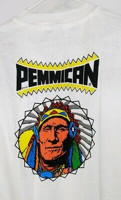 Vintage Pemmican T Shirt indian American Authentic Beef Jerky Size XL ()