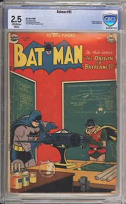Batman # 61  The Origin of Batplane II !  CBCS 2.5 scarce Golden Age book !