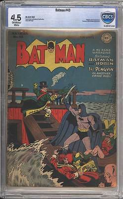 Batman # 43  Penguin cover / story !  CBCS 4.5 scarce Golden Age book !