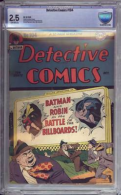 Detective Comics # 104  Billboard Battle !  CBCS 2.5 scarce Golden Age book !