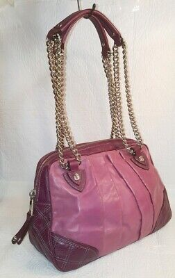 Quilted Bowler (MARC JACOBS Quilted & Pleated BOWLER Purple Calf Leather Shoulder Bag )