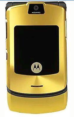 MOTOROLA RAZR V3 GSM 1.2MP CAMERA UNLOCKED- Gold, used for sale  BANGALORE
