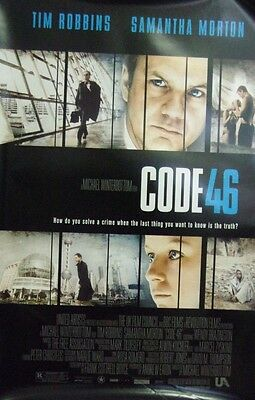Code 46 Original Single Sided Movie Poster tim Robbins Samantha Morton 2003