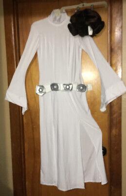 Princess Leia Halloween Costumes Adults (Princess Leia Costume Adult Star Wars Halloween Fancy Dress Medium & Wig,)