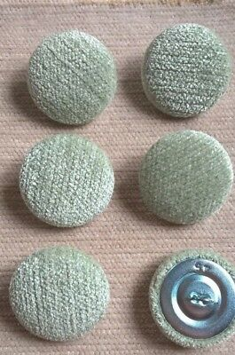 Chenille 45L/28mm Apple Upholstery Fabric Covered Buttons Craft Sewing (Green)