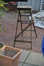 Vintage retro wooden A-frame ladder 111cm high Doubleview Stirling Area Preview