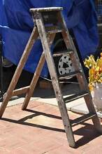 Mid century vintage wooden ladder stamped 1953 Doubleview Stirling Area Preview