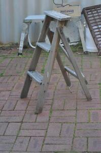 Mid century vintage A-frame wooden ladder 84cm high Doubleview Stirling Area Preview