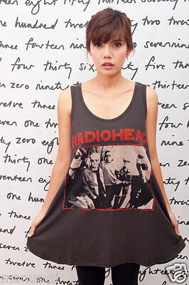 RADIOHEAD Thom Yorke ROCK Band Art WOMEN T-SHIRT DRESS Tank TOP Tunic Size M L