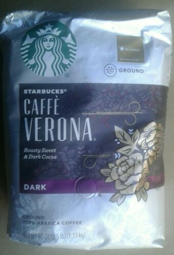 Starbucks Cafe Verona Dark Roast Ground 40 Oz. Free Shipping  - $19.49