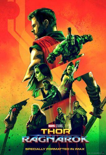 Thor Ragnarok Movie Poster Original Mini Sheet 13x19 Chris Hemsworth Marvel
