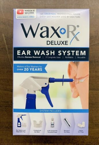 Doctor Easy Wax+RX Conditioned Ear Wash System New In The Box Free Shipping