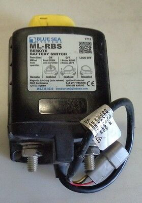 Blue Sea Systems 7712 - Ml-Rbs Remote Battery Switch with Manual 12V 500A