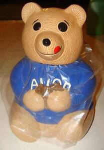 BRAND NEW RARE HARD TO FIND VINTAGE 1979 AVON COLLECTIBLE BLUE BEAR COOKIE JAR