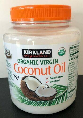 🔥 Kirkland Organic Virgin Coconut Oil Unrefined Cold Pressed Chemical Free 84oz