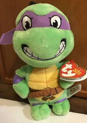 Beanie Baby Teenage Mutant Ninja Turtles DONATELLO New Heart Tag