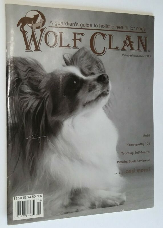 Wolf Clan Magazine Champion Papillon Cover Homeopathic Care Article Oct/Nov 1995