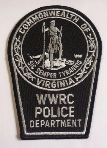 WWRC Woodrow Wilson Rehabilitation Center Police Department Cloth Patch