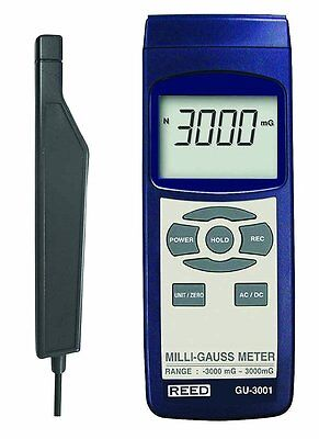 Reed Gu-3001 Electromagnetic Field Meter Emf Milli-gauss -3000mg To 3000mg Acdc
