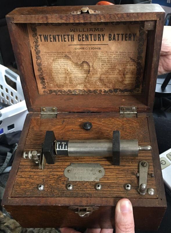 Antique Williams Twentieth Century Battery Quack Box - Complete