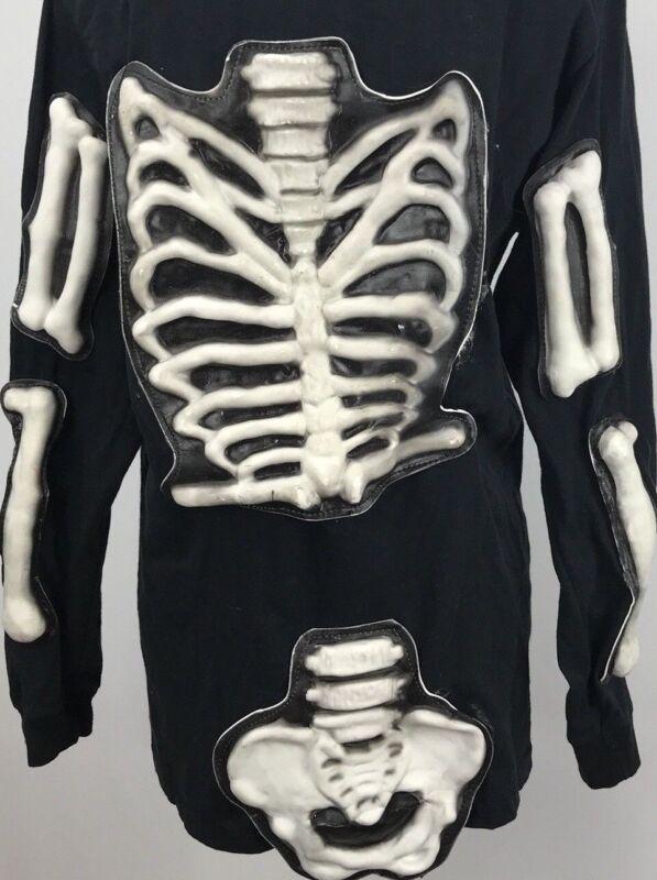 Skeleton Shirt Halloween Three Dimentional Zombie Walking Dead Size Small