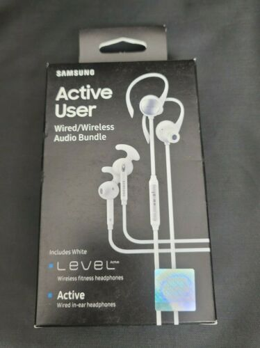 Samsung Level Active Plus In-Ear Only Headsets Wired & Wireless Audio Bundle