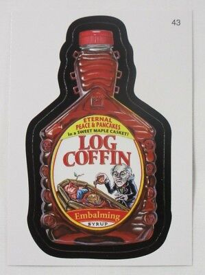 2010 Topps Wacky Packages Series 7 Trading Card #43-Log Coffin-Log Cabin for sale  Woodridge