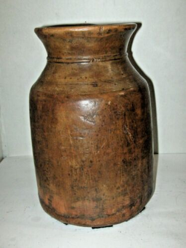 ANTIQUE WOODEN CANISTER BUTTER CHURN, FREE SHIPPING
