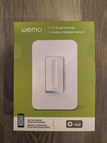 WeMo F7C059 Wi-Fi Smart Light Dimmer Switch - White - Brand New