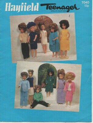 Vintage Hayfield SINDY/BARBIE DOLLS CLOTHES Knitting Pattern - 11 OUTFITS 4 PLY