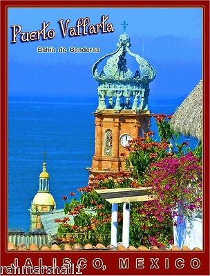 Puerto Vallarta Jalisco Mexico Beach Mexican Travel Advertisement Art Poster