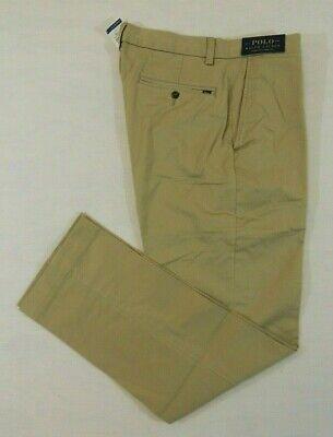 NWT Men Ralph Lauren Polo Logo Chino Stretch Classic Fit Khaki Pants 40 42 44 30