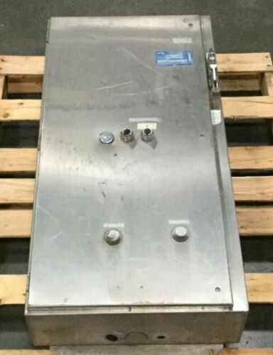 Stainless Enclosure with Square D Size 3 Reversing Starter and Other Components