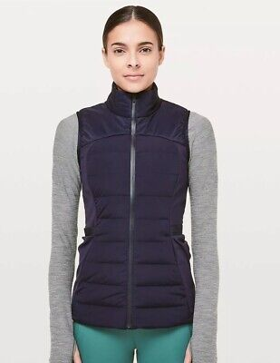 NWOT Navy Lululemon  Down For It All Vest Size 4 Insulated  Winter Sold Out