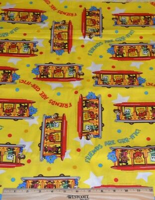 DANIEL TIGER FABRIC BY THE 1/2 YARD! O OWL~KATERINA KITTYCAT~MR RODGERS TROLLEY - Daniel Tiger Fabric