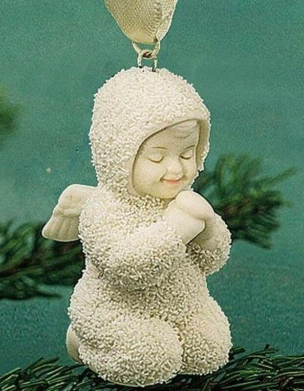 "SNOWBABIES MINI ORNAMENT ""SWEET DREAMS"" GREEN BOOK 68903 NEW FREE SHIPPING"